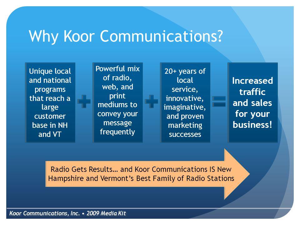 Why Koor Communications. Koor Communications, Inc.