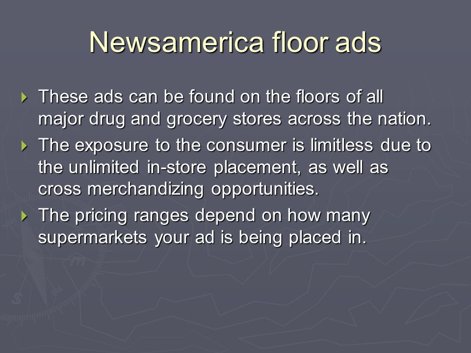 In Store Floor Ads agencies that do floor ads  Newsamerica  www.Newsmamerica.com  Floorgraphics  www.floorgraphics.com www.floorgraphics