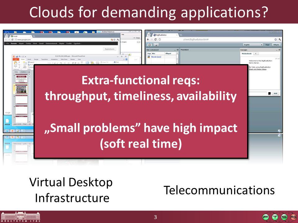 3 Clouds for demanding applications.