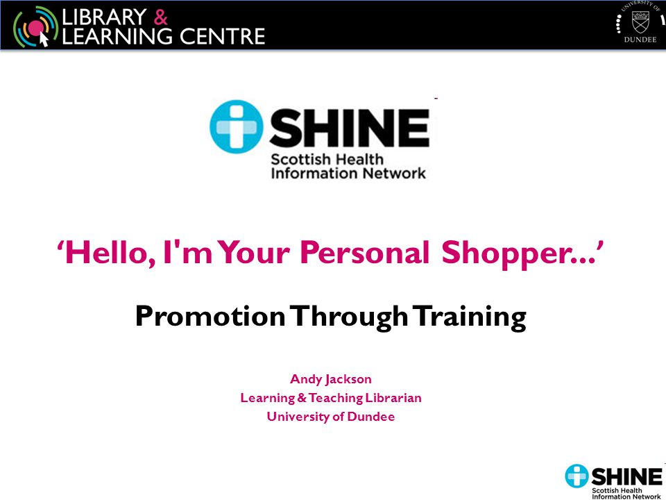 ' Hello, I m Your Personal Shopper...