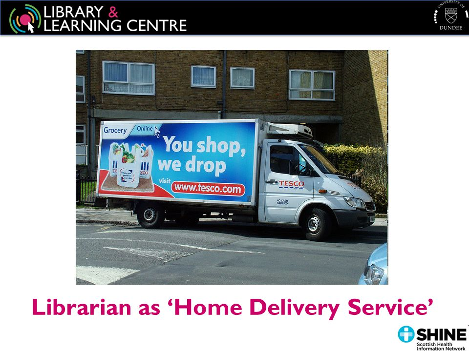 Librarian as 'Home Delivery Service'