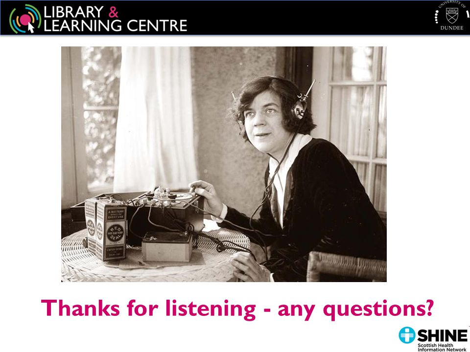 Thanks for listening - any questions