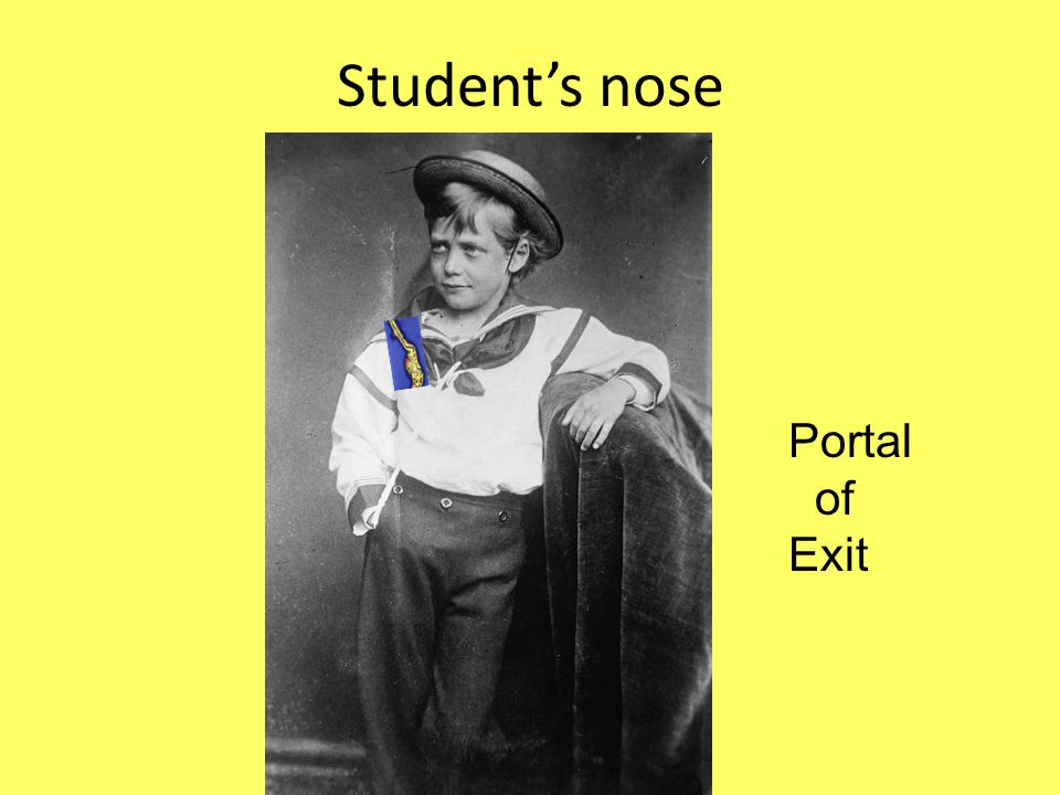 Student's nose Portal of Exit