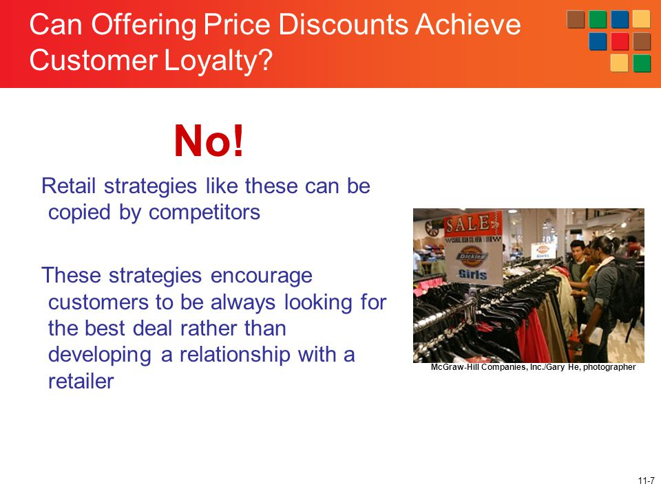 11-7 Can Offering Price Discounts Achieve Customer Loyalty.