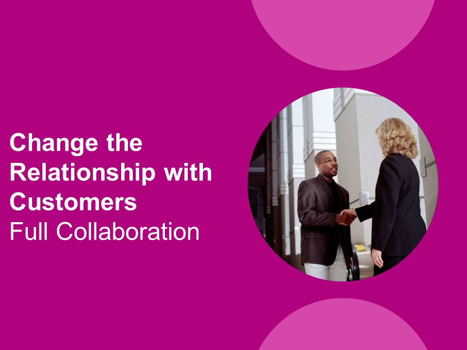 Change the Relationship with Customers Full Collaboration