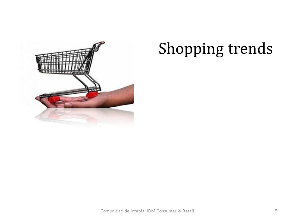Comunidad de Interés: IDM Consumer & Retail5 Shopping trends
