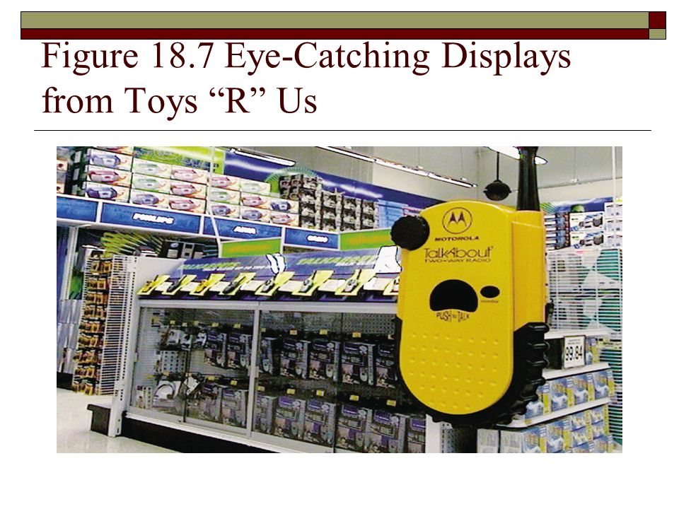 """Figure 18.7 Eye-Catching Displays from Toys """"R"""" Us"""