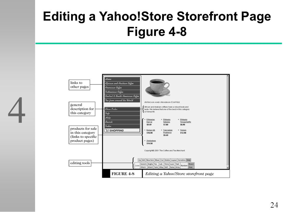 24 4 Editing a Yahoo!Store Storefront Page Figure 4-8