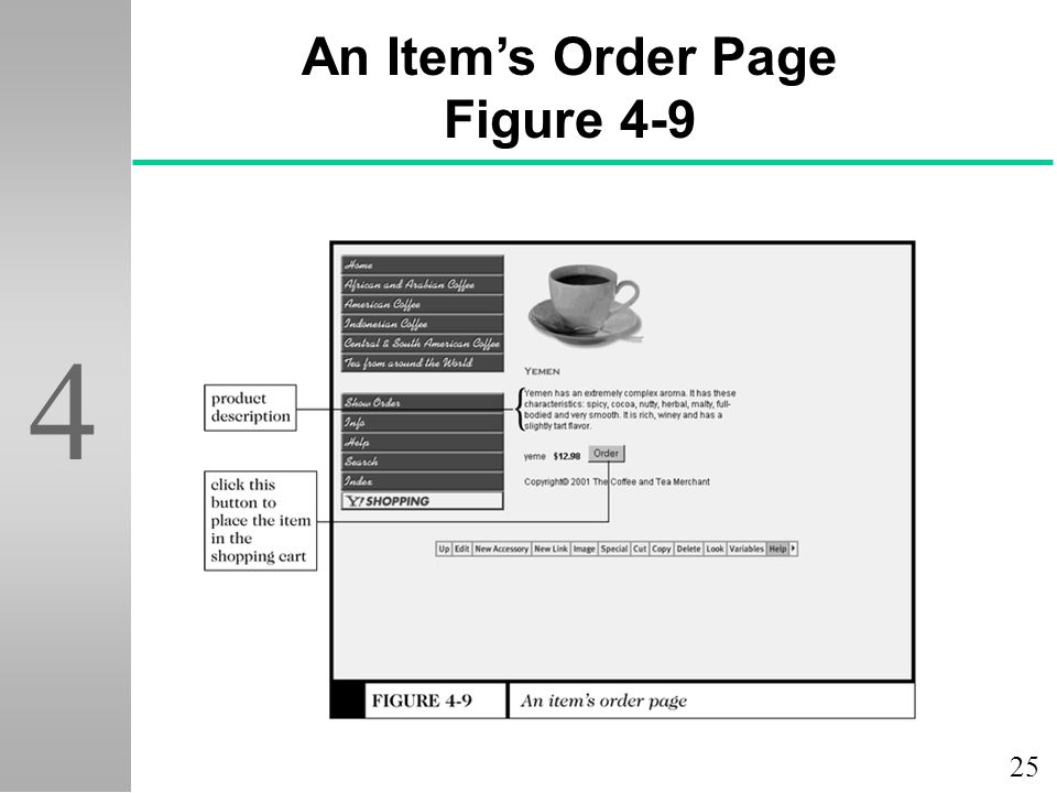 25 4 An Item's Order Page Figure 4-9