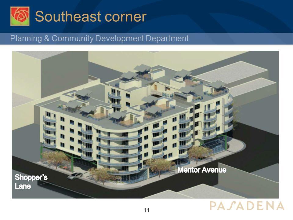 Planning & Community Development Department Southeast corner 11 E. Walnut St. N. Allen Ave.