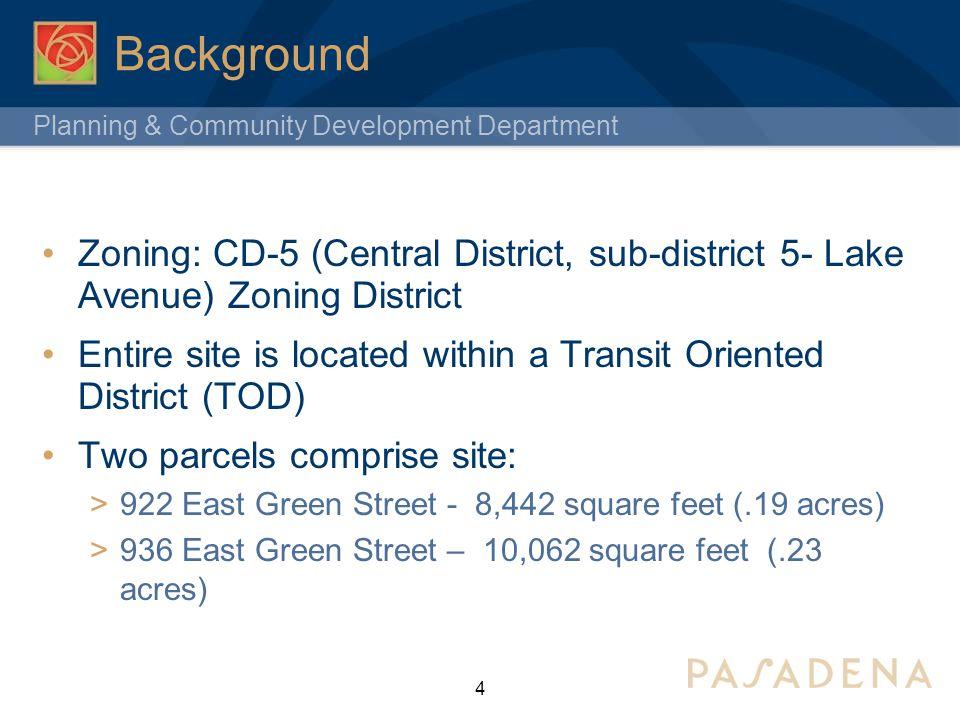 Planning & Community Development Department Project Description Mixed-Use Project  45 for sale dwelling units.