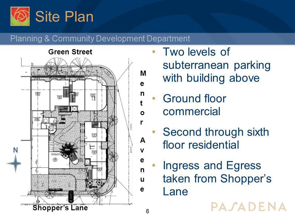 Planning & Community Development Department North Elevation 7 Green Street
