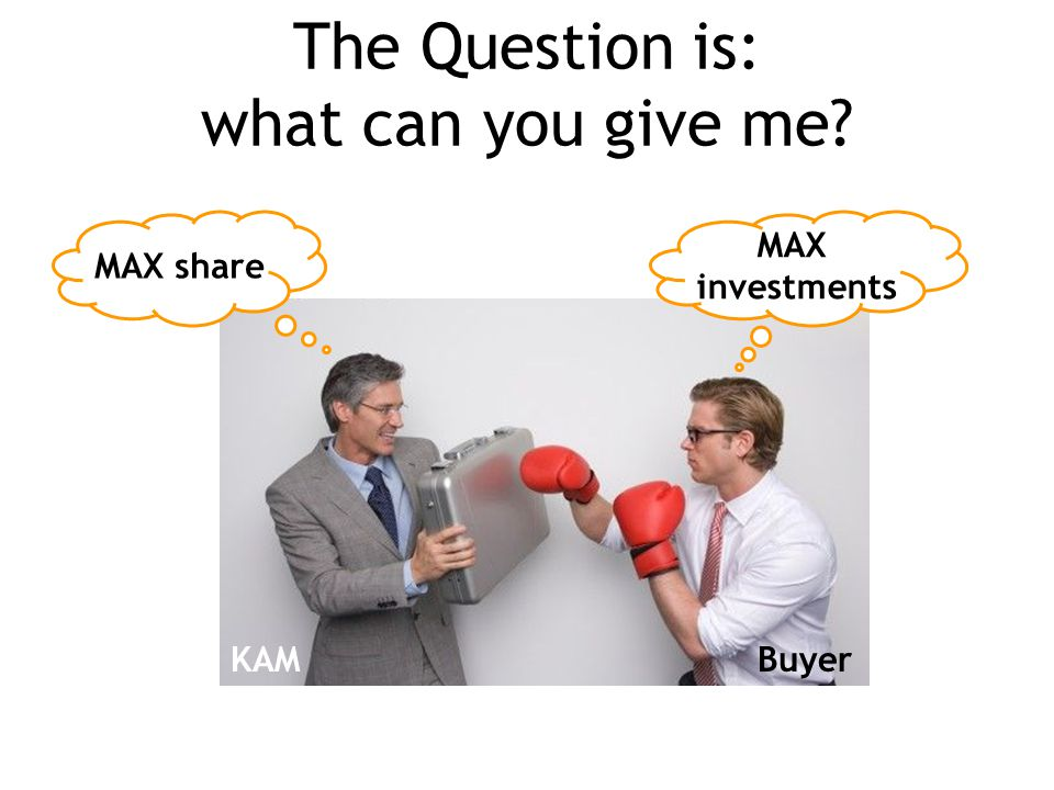 The Question is: what can you give me? MAX share MAX investments KAMBuyer