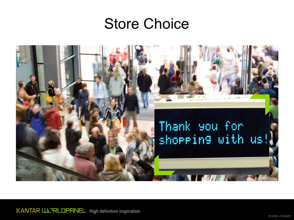 © Kantar Worldpanel Store Choice