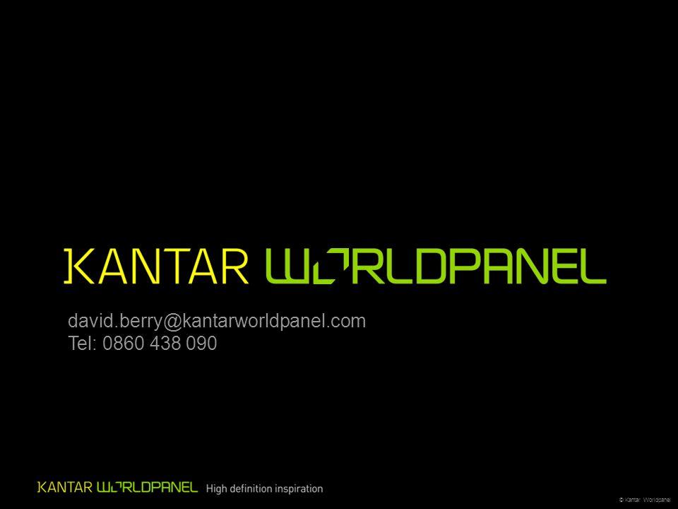 © Kantar Worldpanel david.berry@kantarworldpanel.com Tel: 0860 438 090