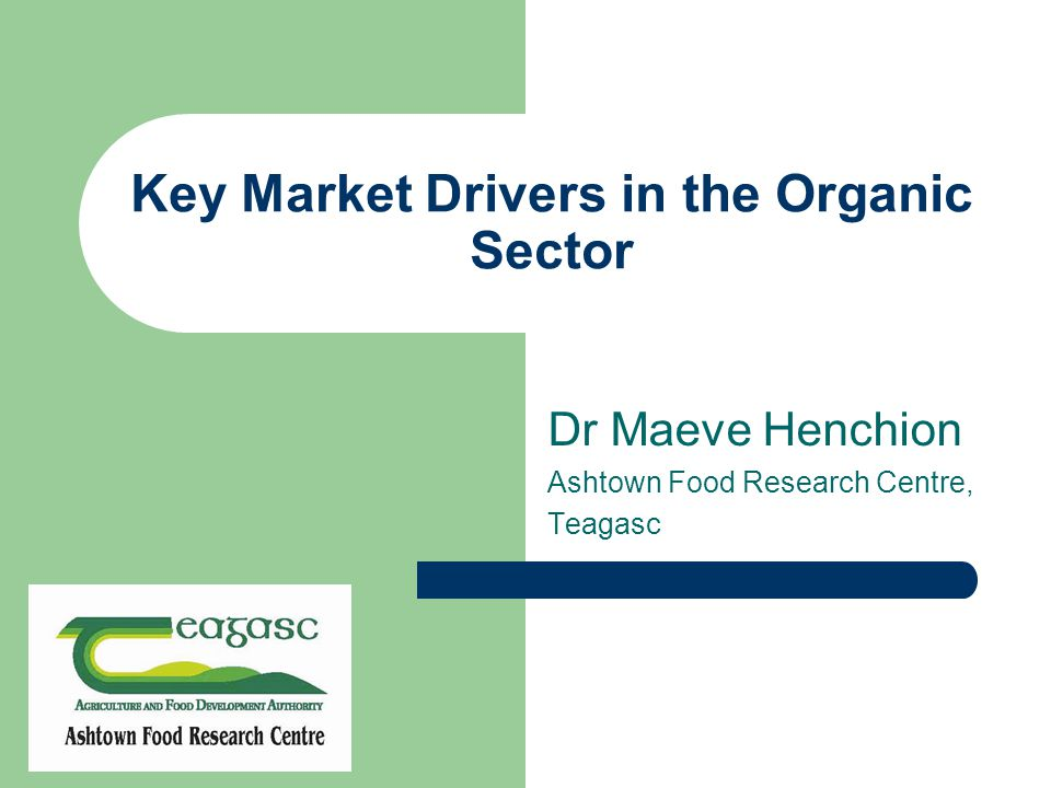 Agenda Market context Awareness and understanding of Organic Is organic food delivering what consumers want.