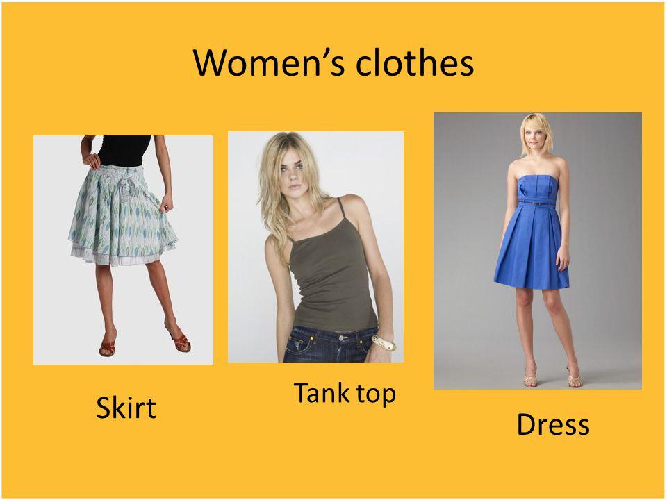 Women's clothes Skirt Tank top Dress