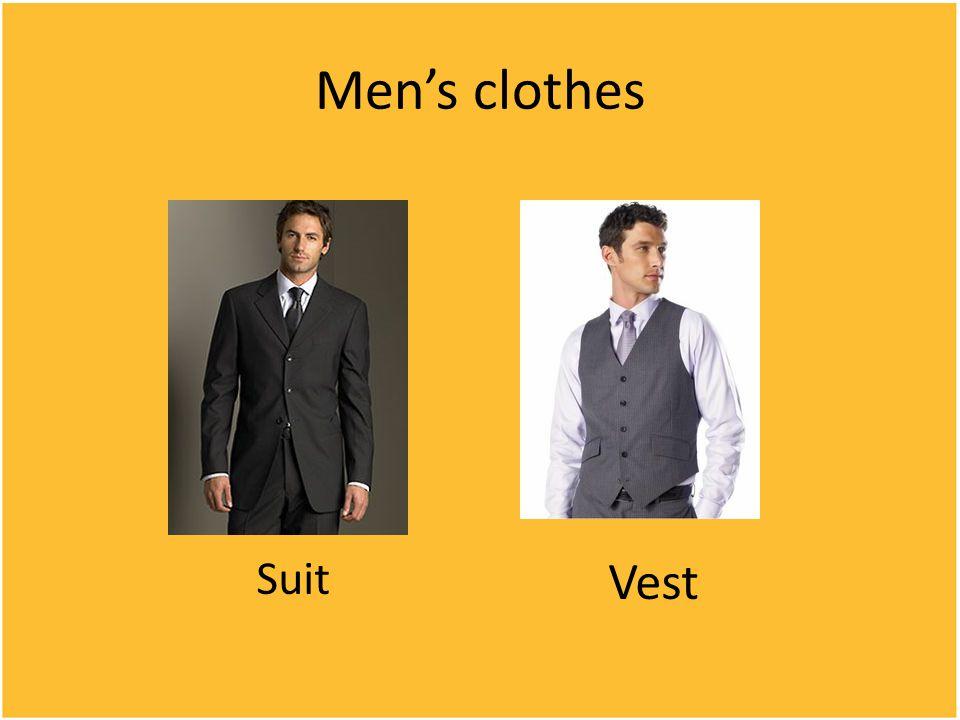 Men's clothes Suit Vest