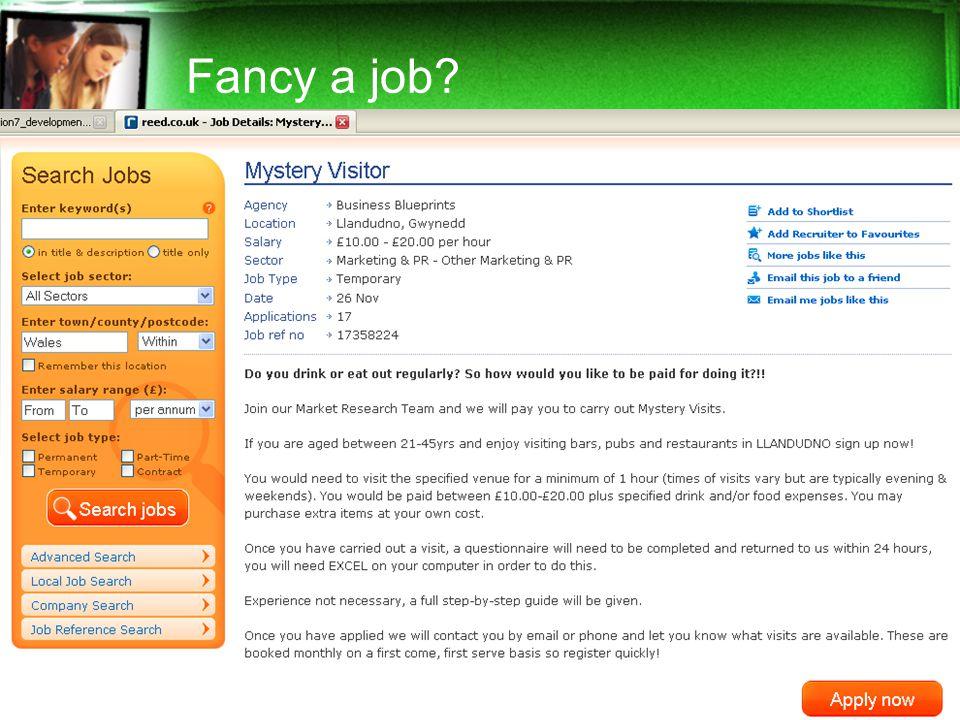 Fancy a job?