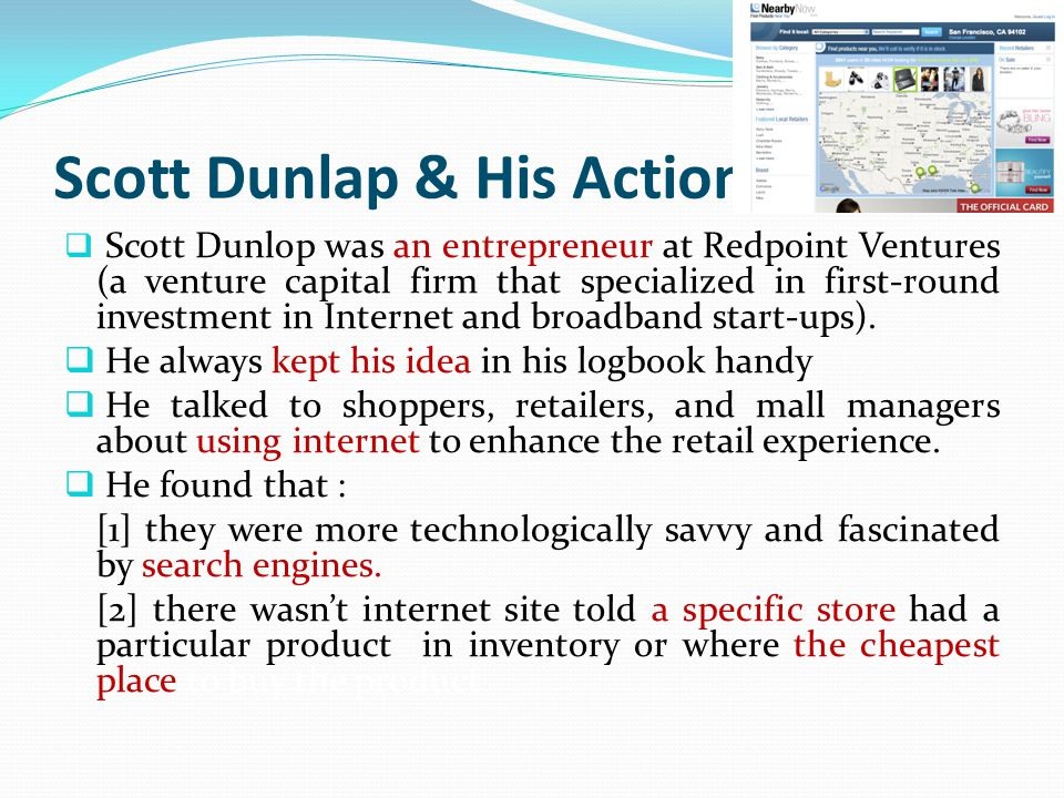 Product Feasibility Analysis  First target Dunlap: malls.