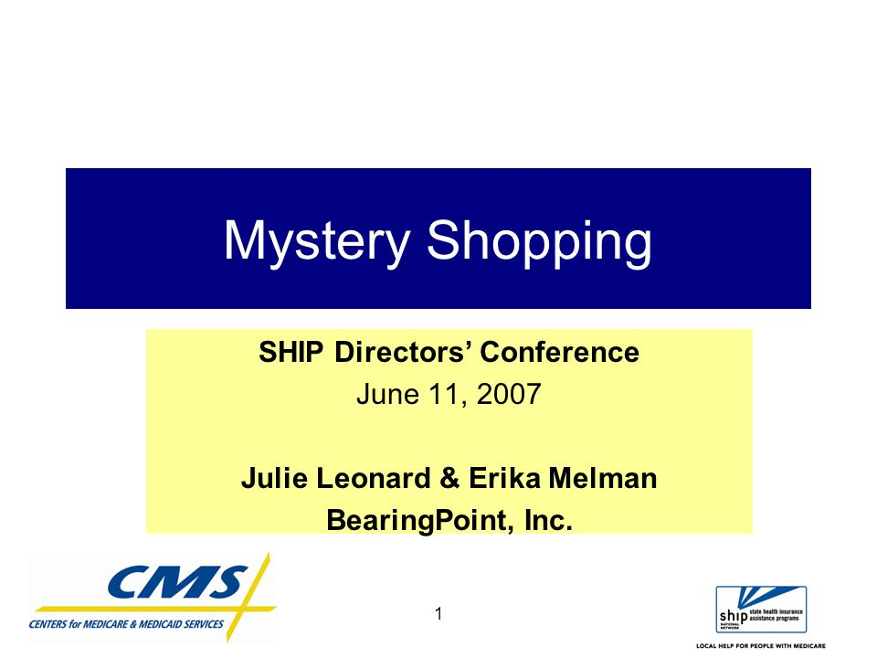 2 Topics  Mystery Shopping –What is it.–Why Mystery Shop.