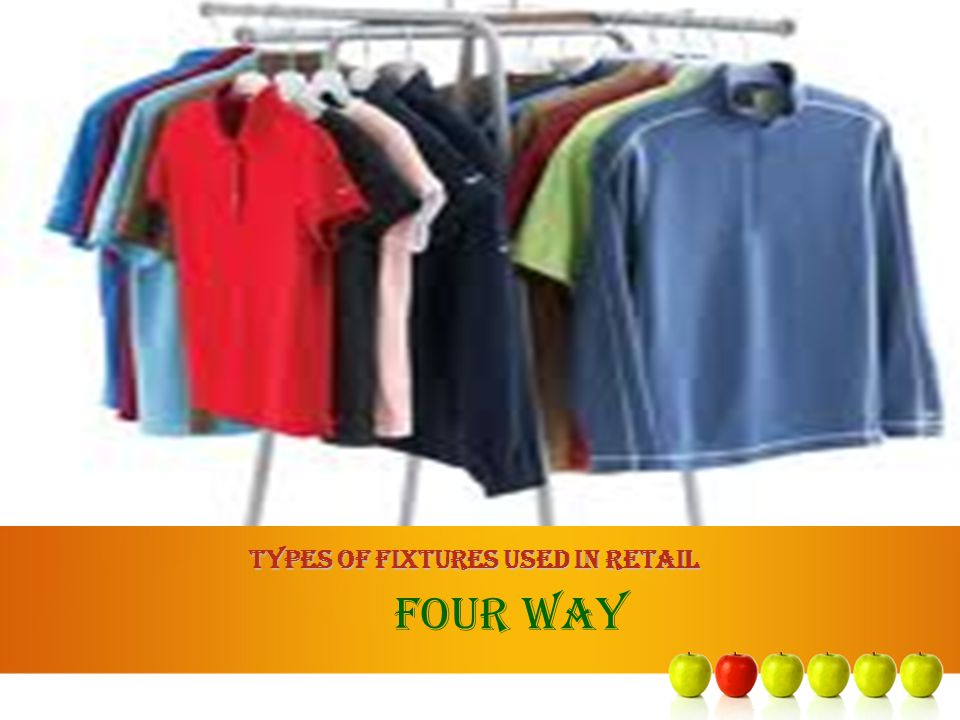 TYPES OF FIXTURES USED IN RETAIL FOUR WAY