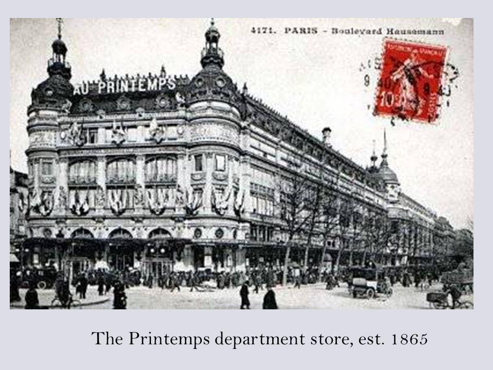 The Printemps department store, est. 1865