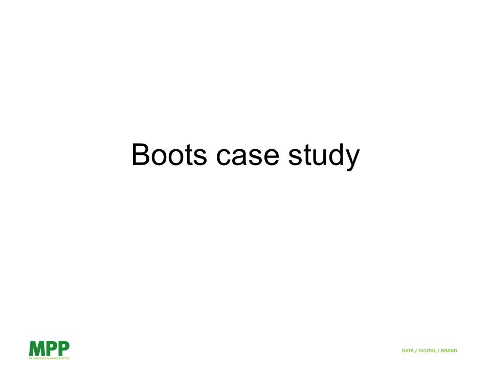 Boots case study