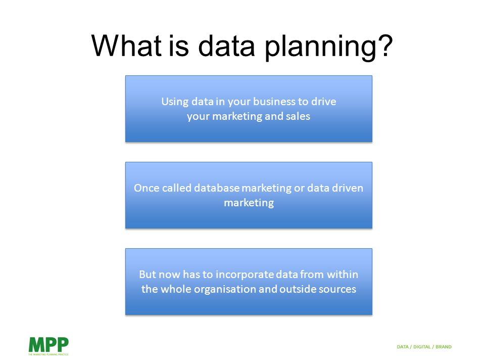 What is data planning.