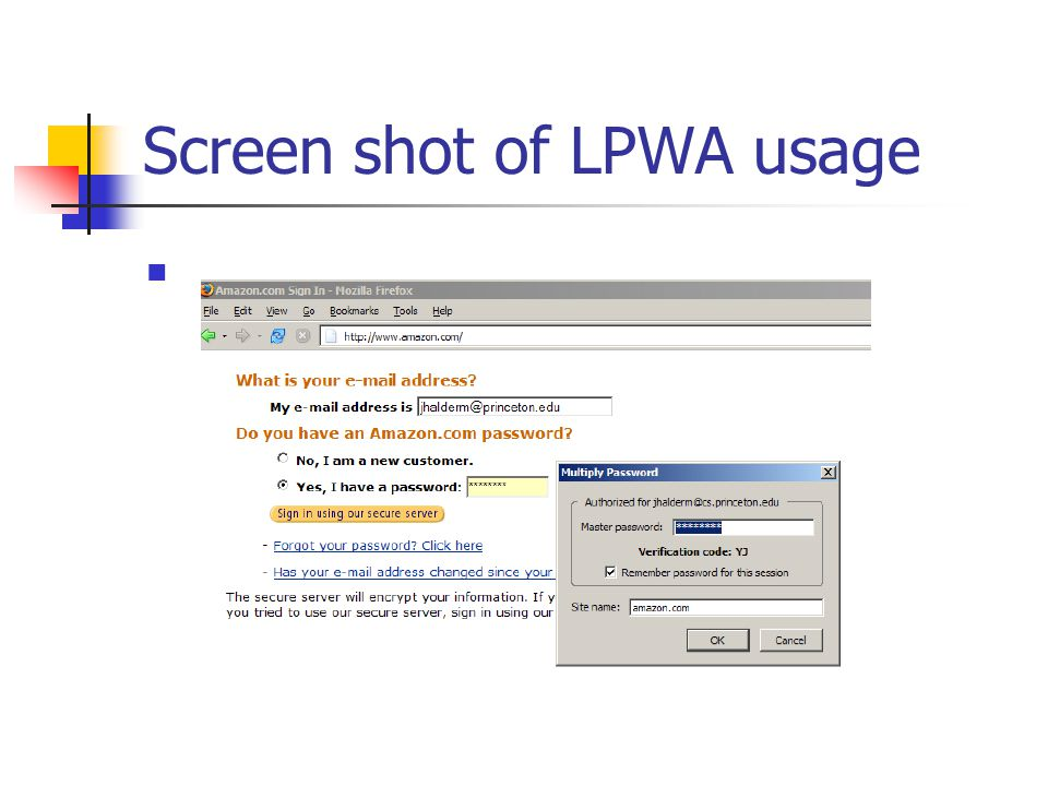 Screen shot of LPWA usage