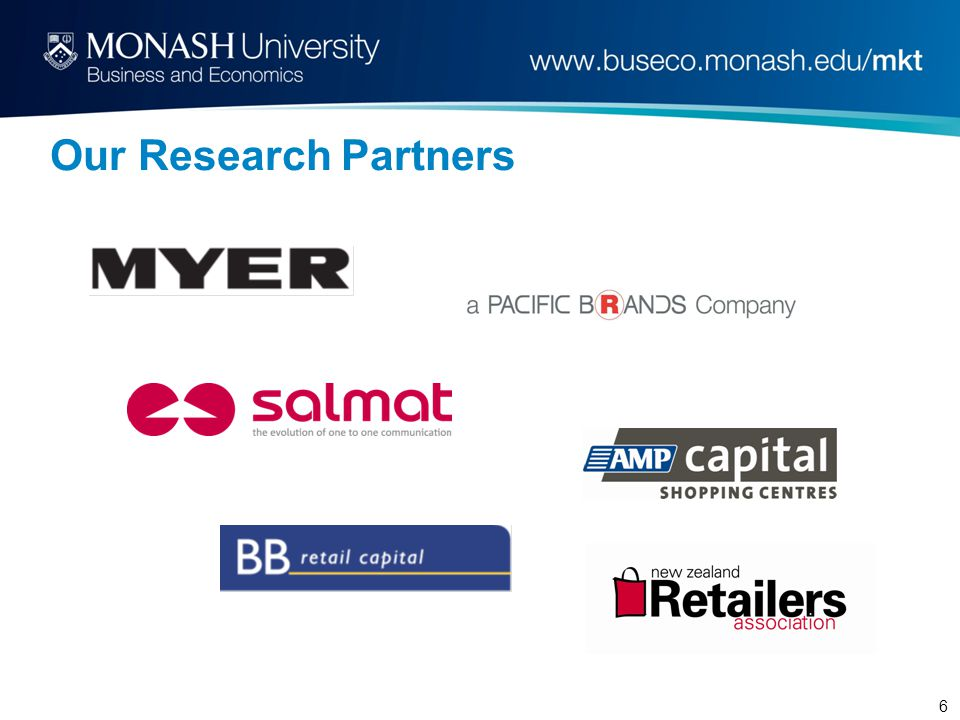 6 Our Research Partners