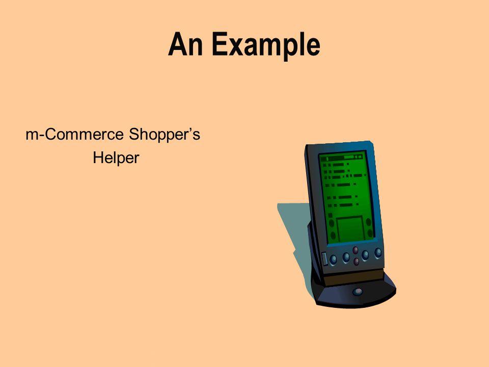 An Example m-Commerce Shopper's Helper