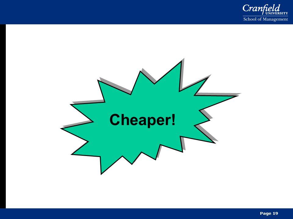 Page 19 Cheaper!