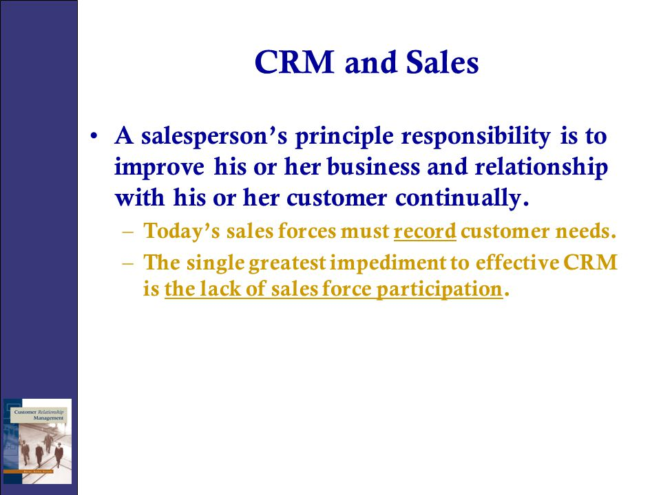 CRM and Sales Strategies There are several different selling strategies currently used based on the strengths of organizations.