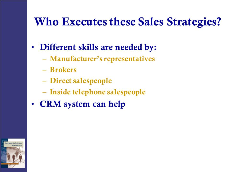 CRM Benefits CRM provides salespeople with the ability to – Document customer needs quickly – Provide senior management exposure to customer problems – Direct other departments