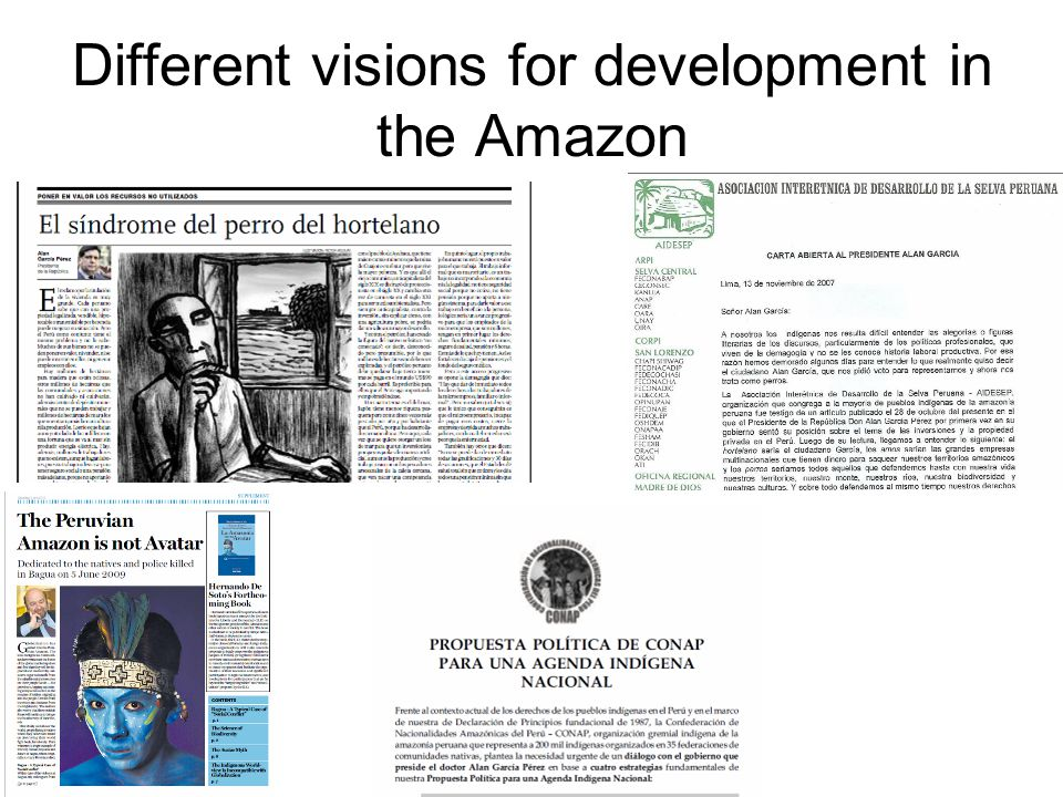 Different visions for development in the Amazon