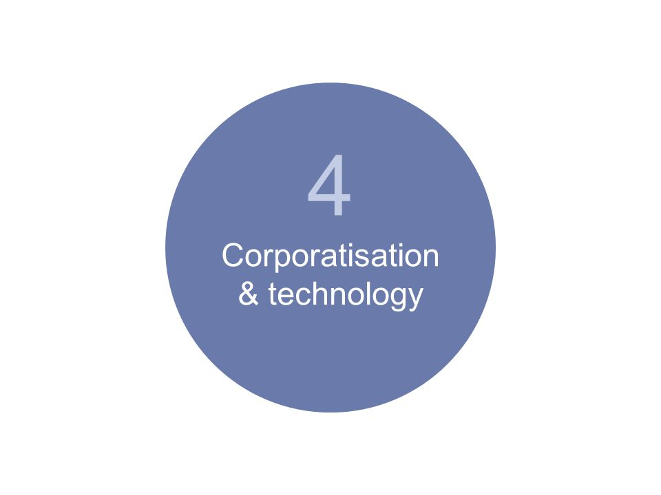 4 Corporatisation & technology