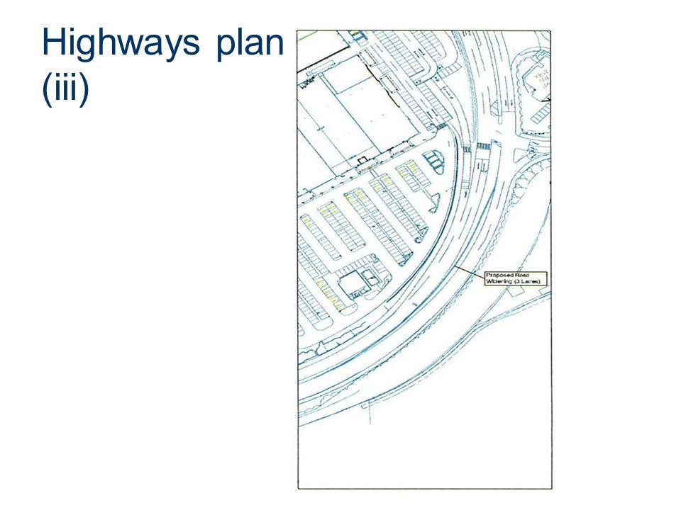 Highways plan (iii)