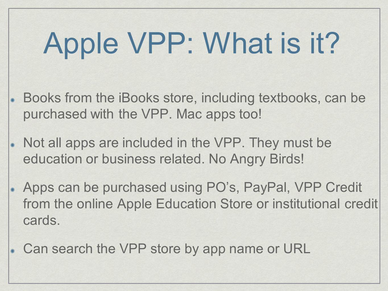 Apple VPP: What is it.