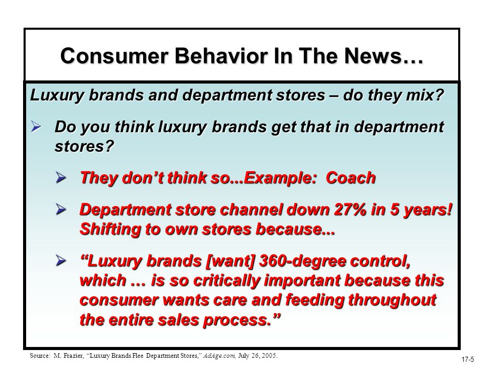 17-26 The Retail Scene In-store shopping perceived as neither fun nor efficient by many.