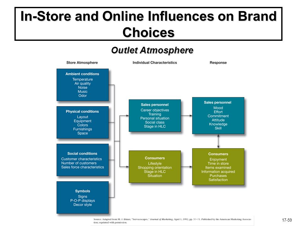 17-59 In-Store and Online Influences on Brand Choices Outlet Atmosphere