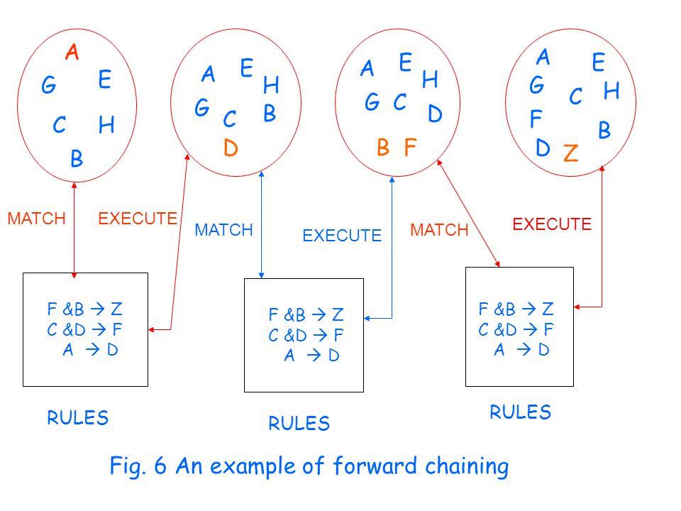 A B G C E H D A E G C B H B F A E GC H D Z A G F D E H B C MATCH EXECUTE F &B  Z C &D  F A  D F &B  Z C &D  F A  D F &B  Z C &D  F A  D RULES Fig.