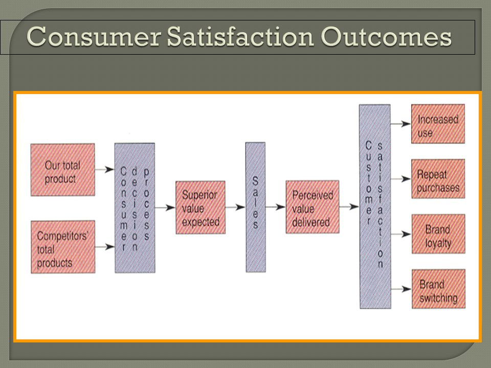 Consumer Satisfaction Outcomes