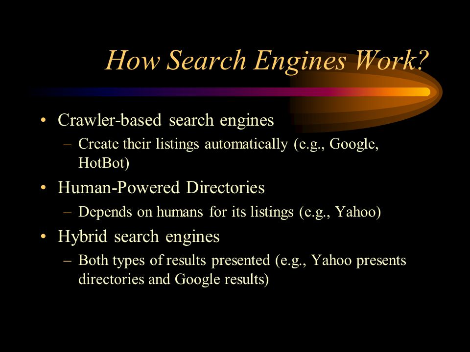 How Search Engines Work.