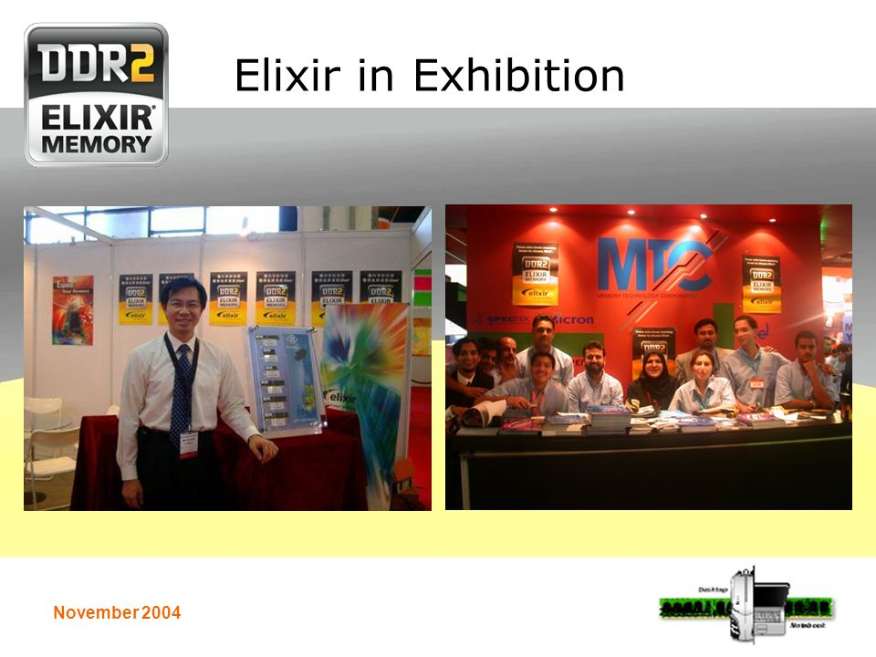 November 2004 Elixir in Exhibition