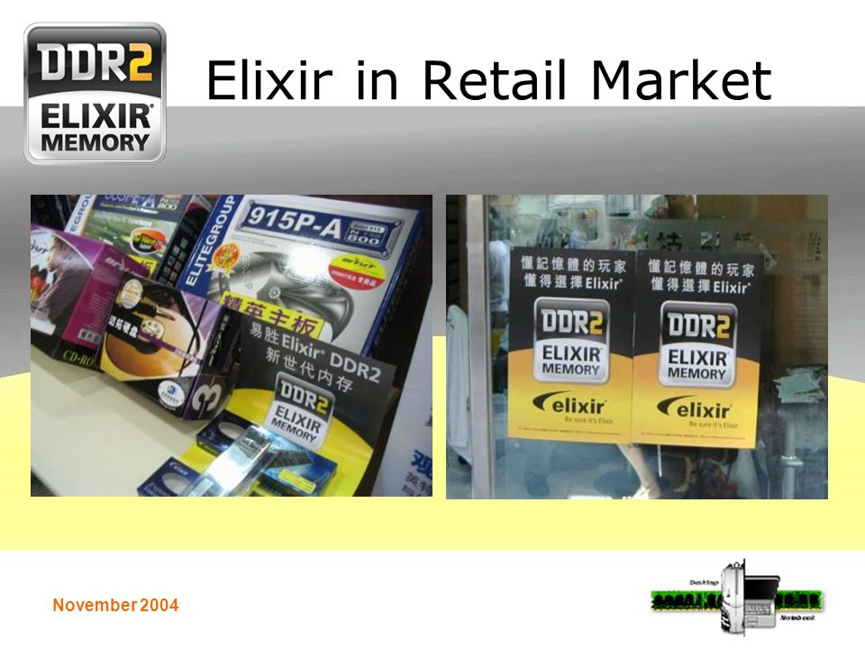 November 2004 Elixir in Retail Market
