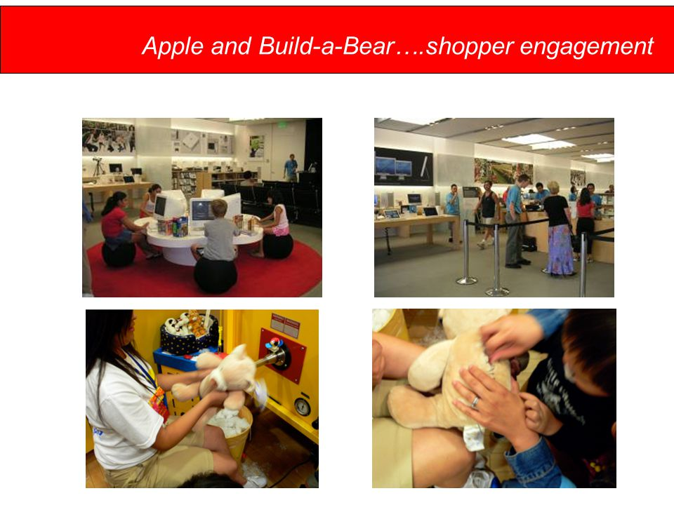 Apple and Build-a-Bear….shopper engagement