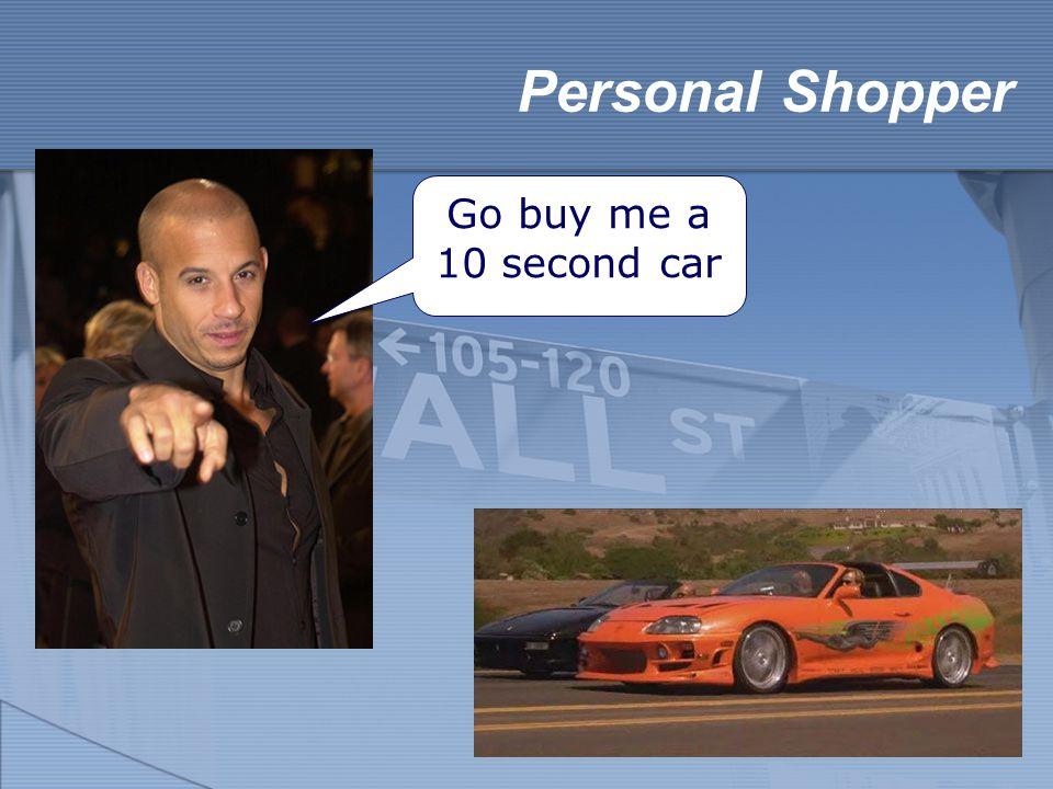Personal Shopper Go buy me a 10 second car