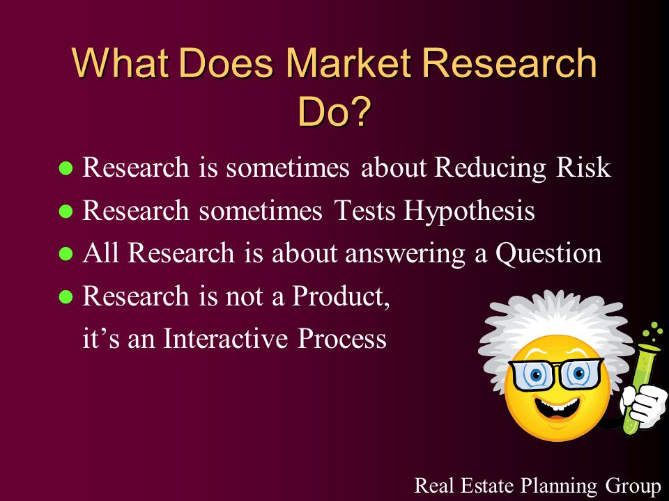 What Does Market Research Do.