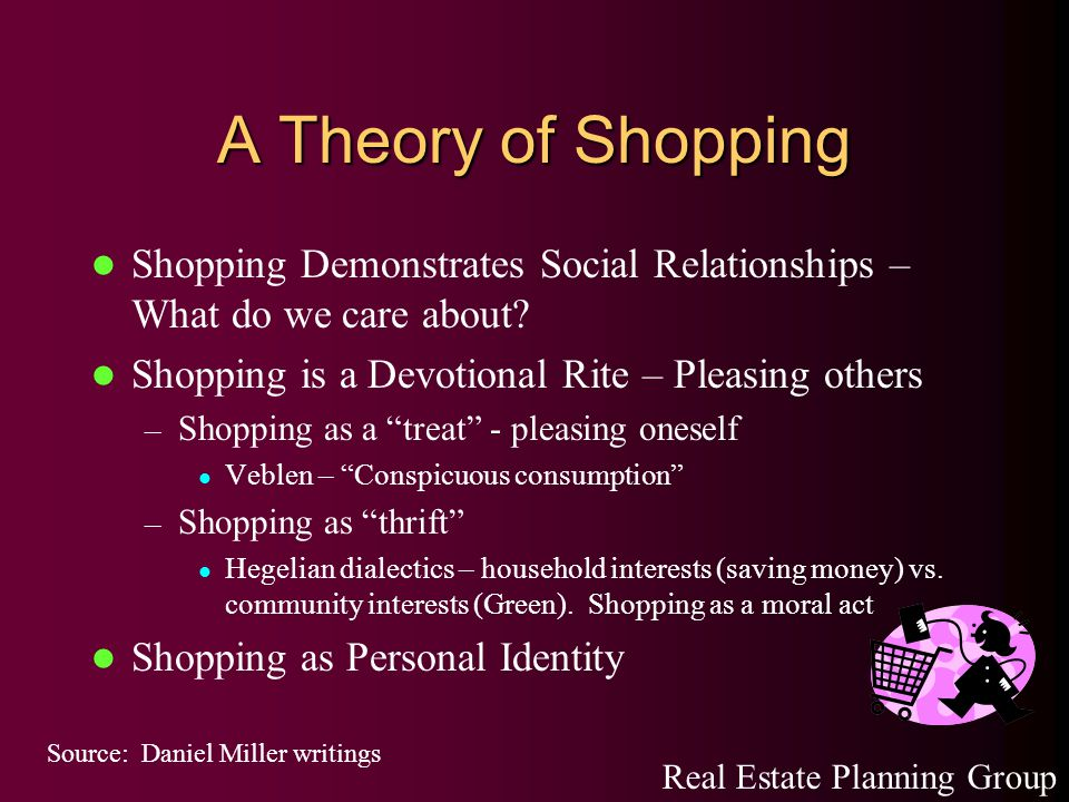 A Theory of Shopping Shopping Demonstrates Social Relationships – What do we care about.